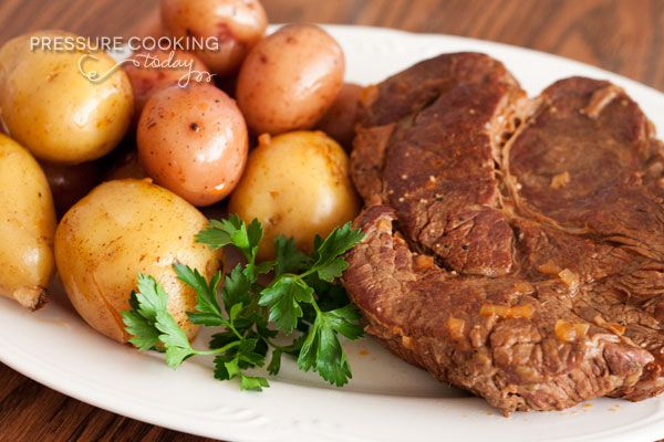 A classic pot roast and potatoes recipe made faster and more delicious in the…