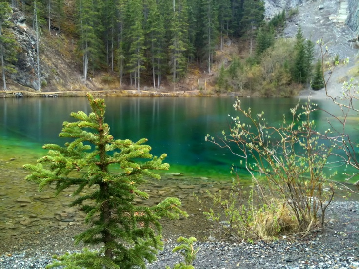 Grassi Lakes, Canmore Alberta. The colors are not exaggerated, they are that gorgeous!