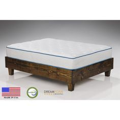 """Arctic Dreams 8"""" Cooling Gel Mattress Made in the USA, Twin"""