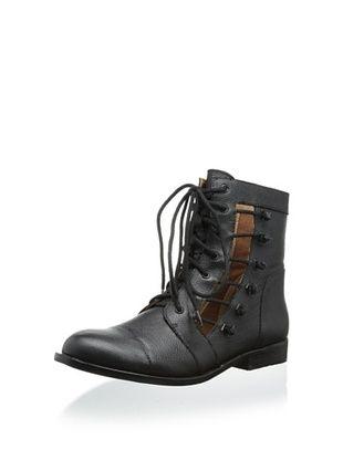 45% OFF Matiko Women's Samantha Lace-Up Combat Boot (Black)