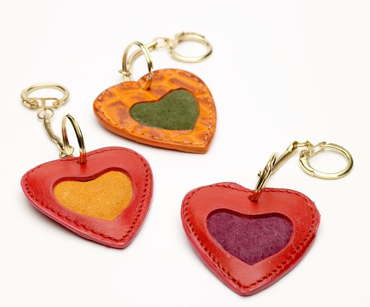Cute Heart Keyring - Brighten up any bag with these colourful accessories