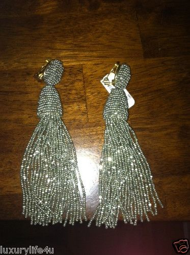 Vintage Oscar De La Renta Haute Couture Runway Long Champagne Tassel
