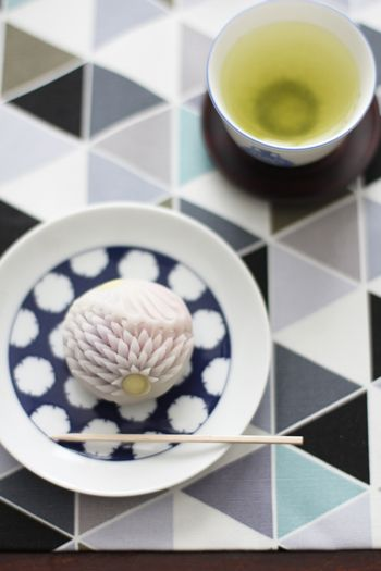 Japanese sweets and green tea