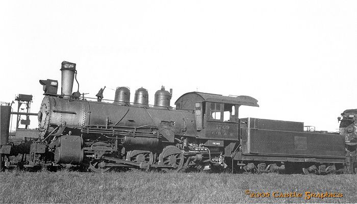 Castle Graphics Transportation Galleria - CB&Q Steam Switcher/cbq 1769 0-6-0 galesburg il jan01 1938