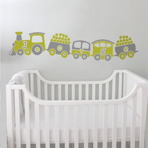 Customize your kids room with their name in colors with our train decal sticker, a nice decoration that will surprise everybody.