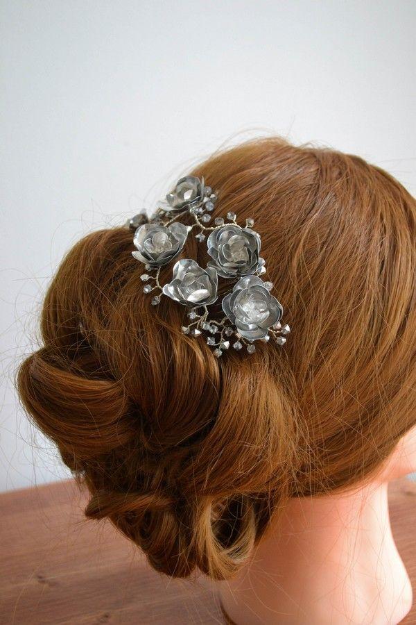ROZA bridal headpieces || RÓZA  menyasszonyi hajdísz