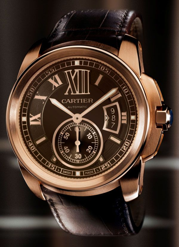 This is a Cartier Calibre watch. It is named after Jacques Cartier who is a French explorer remembered for claiming modern day Canada for the French. For explorers keeping track of time was very important to keep track of their location.