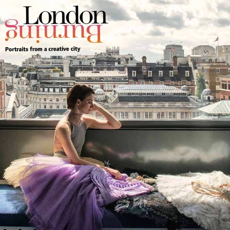 Lauren Cuthbertson, Principal Ballerina at the Royal Ballet overlooking her London from the top of the Royal Opera House  photo by Andrea Hamilton #londonburningbook