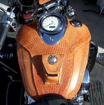 Handmade Motorcycle Tank Bib by Ace High Leathers | CustomMade.com  When I get a bike... there will be something like this to follow shortly!