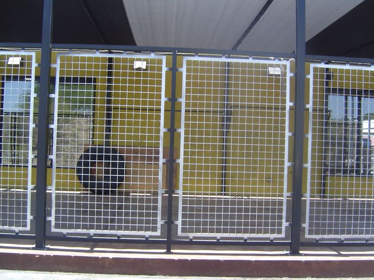 Fence With Perforated Steel Panels Custom Metal Fencing