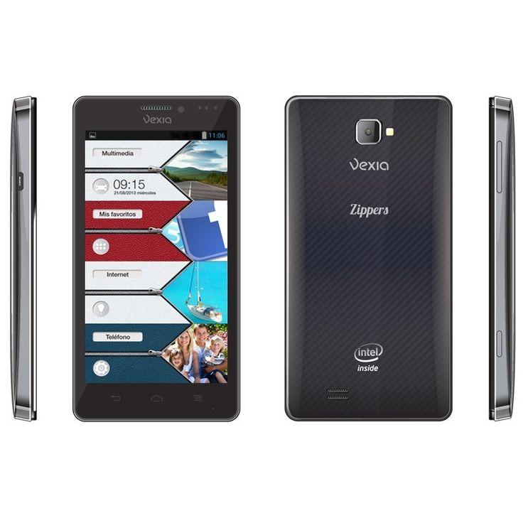 """Vexia Zippers Phone El primer teléfono inteligente de diseño con interfaz Zippers  Elige el Zippers Phone que más se ajuste a tu estilo. Un diseño atractivo y ultrafino en dos colores (blanco nacarado y negro carbono) con pantalla de 4,3"""" LCD QHD con tecnología IPS de 240 ppi y procesador Intel® Atom™ http://www.vexia.eu/es/"""