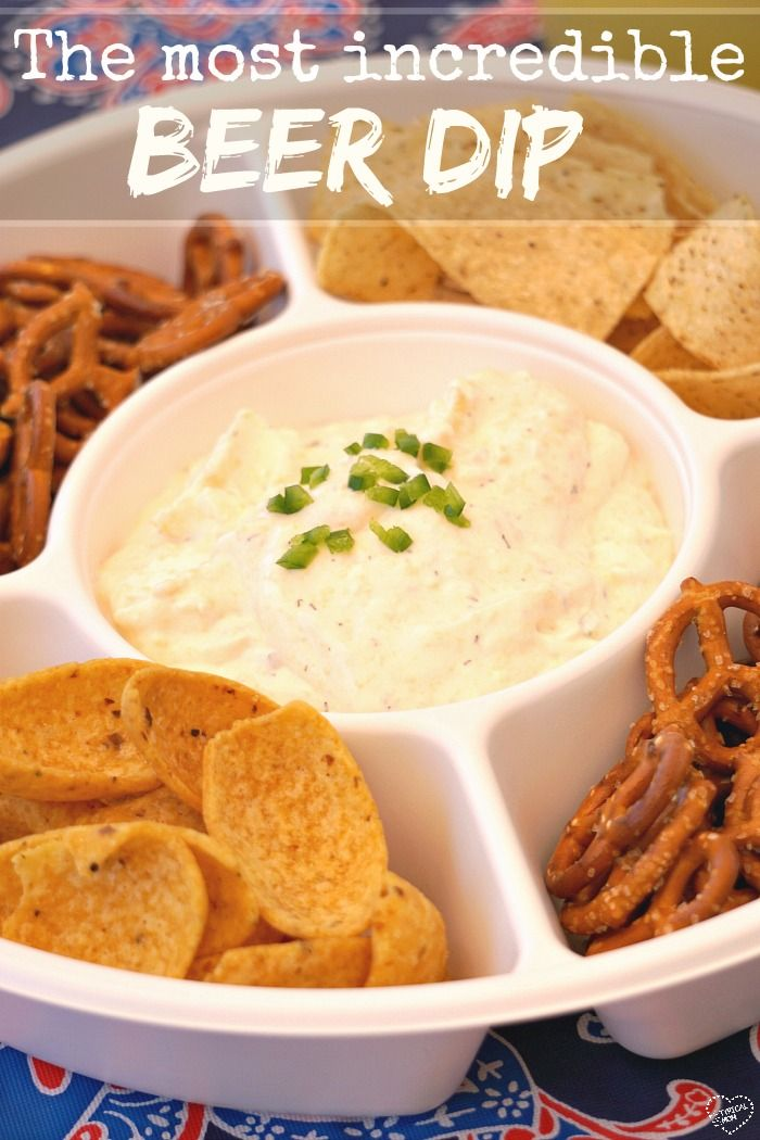 The most amazing beer cheese dip recipe ever!! You've got to make this at your next bbq or party! AD