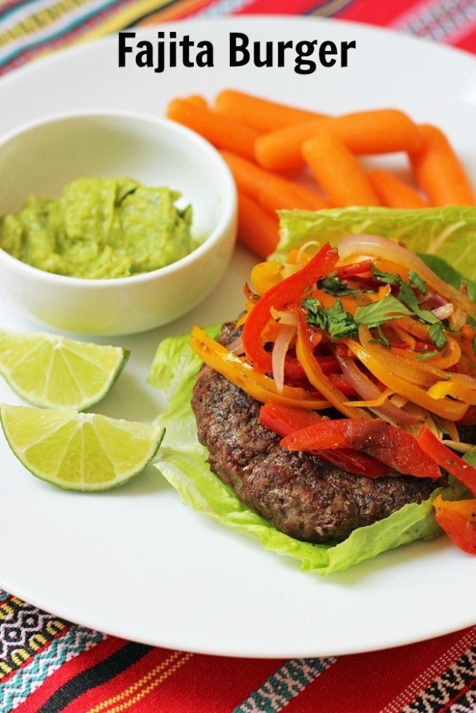 Fajita Burgers to Liven Up Your Burger Bar http://goodcheapeats.com ...