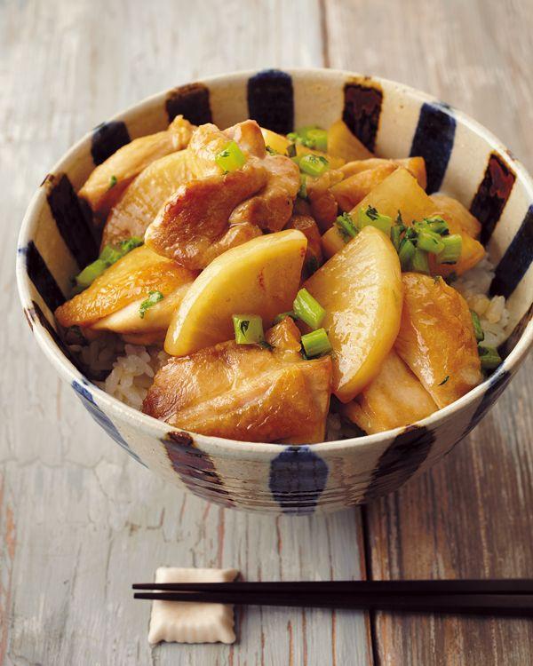 【大根と鶏もも肉丼】どんぶりに合う煮ものレシピ!