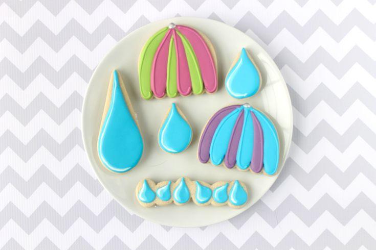 Umbrella Decorated Cookie (Tutorial)