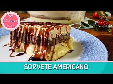 Receitas Tá na Hora   Sorvete Americano - Sobremesa Perfeita para o seu Natal!