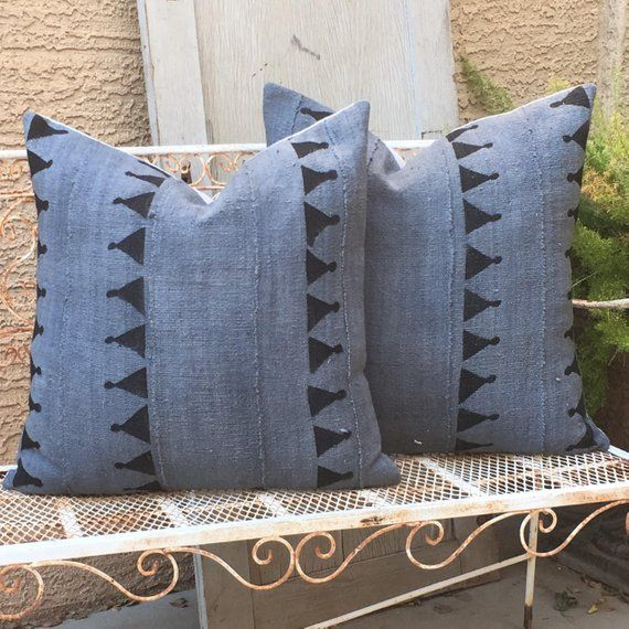 African Mudcloth Pillows Med Grey With Black Tribal Design Etsy African Mudcloth Pillow African Mud Cloth Mudcloth Pillow