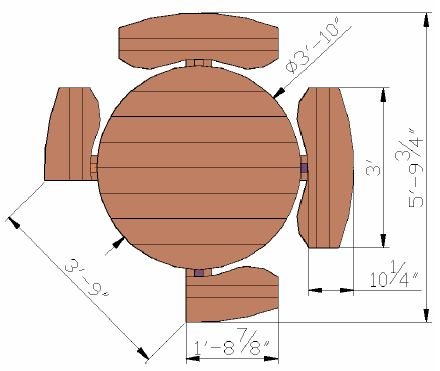 Kid Size Round Wood Picnic Table Kit | Forever Redwood