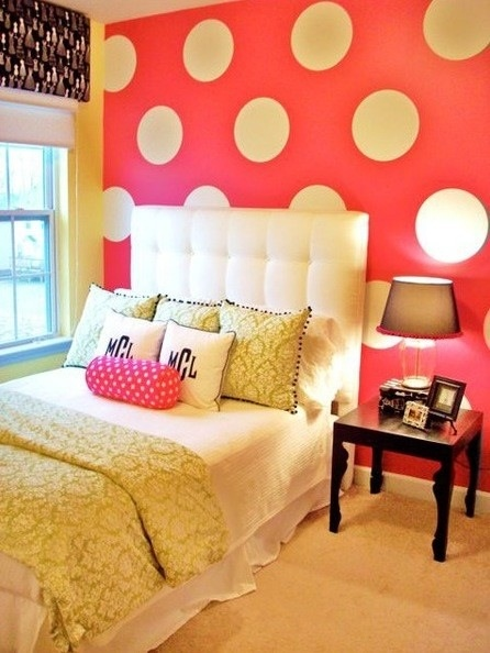 Love the colors for a girl room