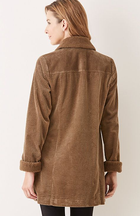 tumbled cord coat