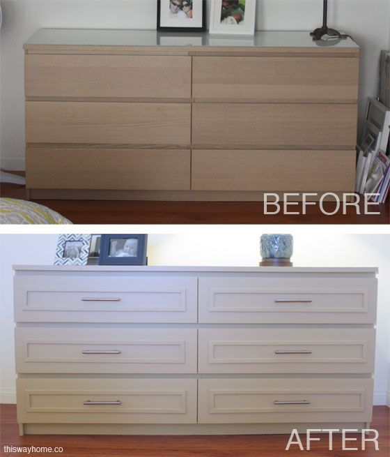 Ikea Malm Before And After Http Thiswayhome Co Diy Pinterest Hack