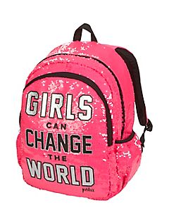 Sequin Change the World Backpack