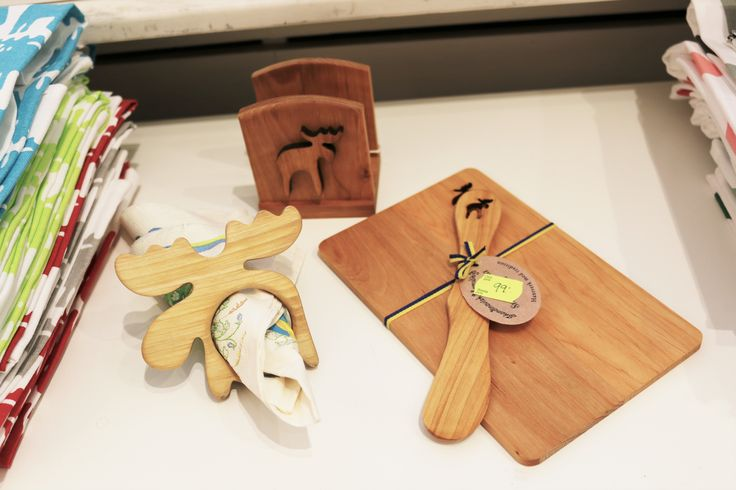 Popular souvenir: GADGETS MADE OF WOOD, OFTEN WITH A MOOSE ON. But why a moose? Sweden has the largest moose population per square kilometer than any other country and the animal has become a symbol for the Swedish woodland.