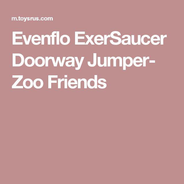Cool Evenflo ExerSaucer Doorway Jumper Zoo Friends
