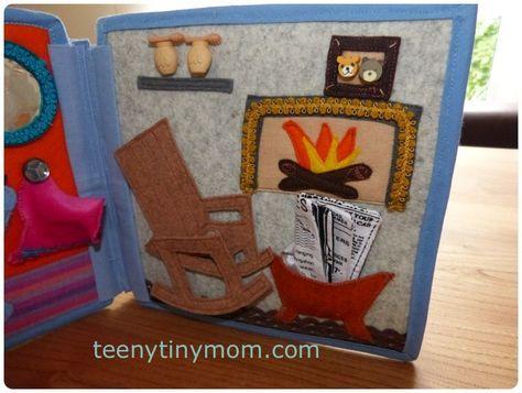 Bücher für Babys und Kleinkinder aus Stoff und Filz selbst nähen. Anleitungen Schritt für Schritt.