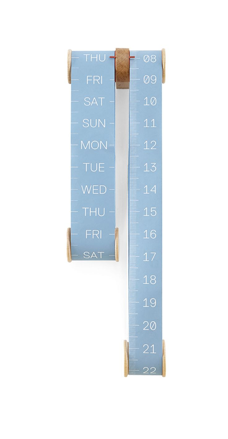 Roll Vertical Scroll Calendar is a perpetual calendar that always retains its structure.