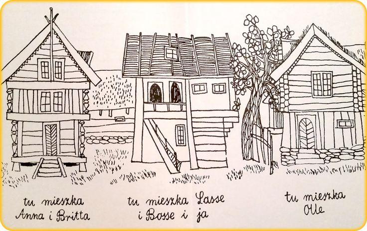 Znalezione obrazy dla zapytania dzieci z bullerbyn ilustracje