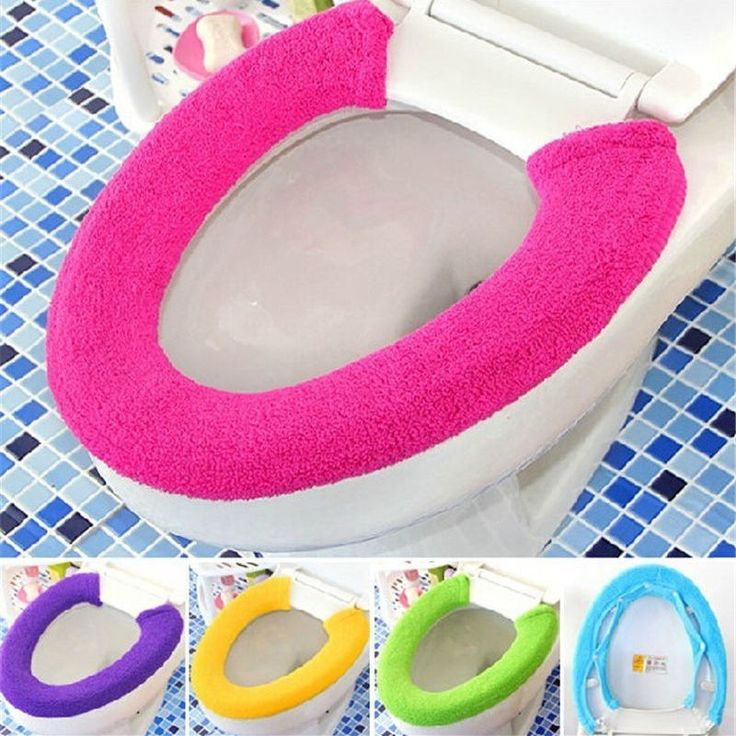 All Shape Toilet Cover Seat Lid Pad Bathroom Protector Closestool Soft Warmer #Unbranded
