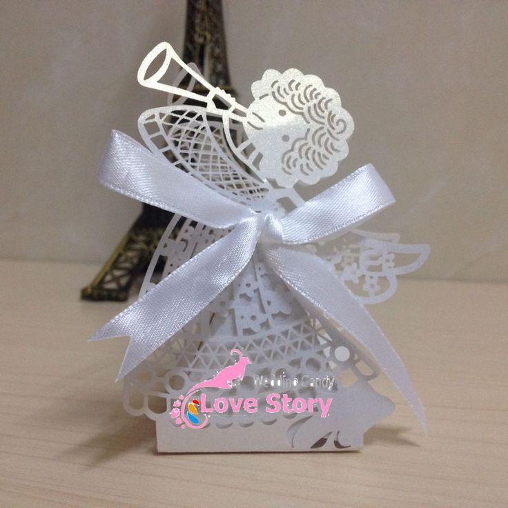 2014 corte a Laser anjo casamento doces caixa de favor, em caixa de papel perolado, chuveiro partido do bebê caixa de doces, festa de aniversário caixa de doces em Decoração de festa de Casa & jardim no AliExpress.com | Alibaba Group