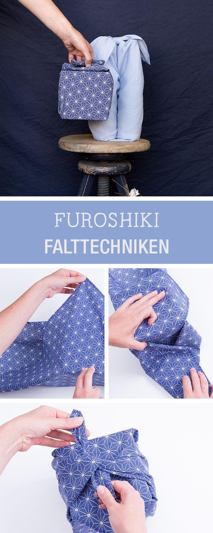 DIY: Geschenke japanisch verpacken mit Stoff / how to wrap gifts with fabric via DaWanda.com