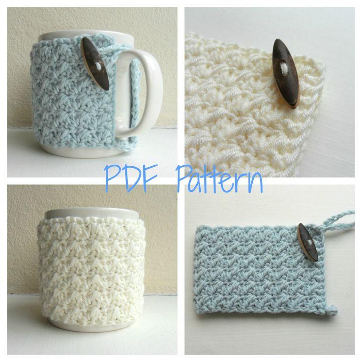 Etsy - Mug Cozy Crochet Pattern cup cozy mug hug PDF di HouseOfHampton