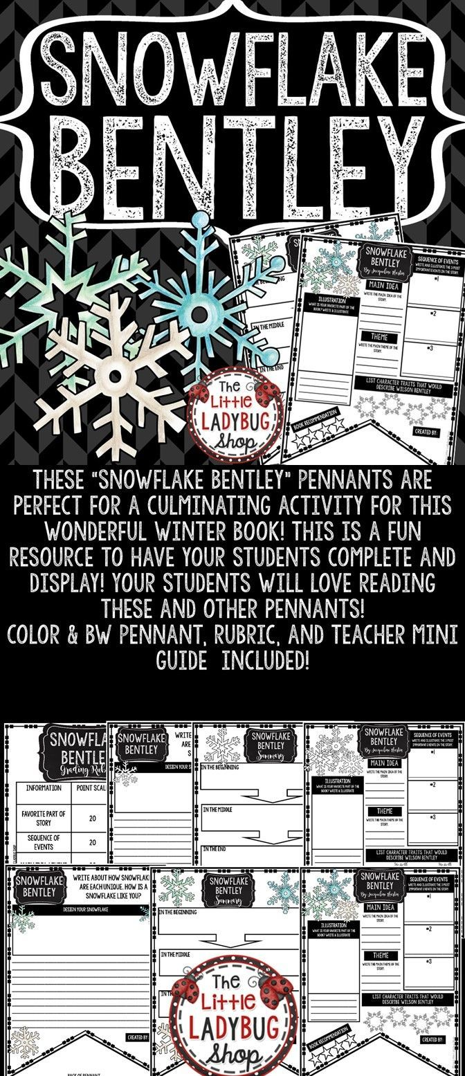 Snowflake Bentley by: Jacqueline Martin READ-GO Pennant  is perfect for your students to use when  COMPLETED reading this wonderful Winter book. This book companion is perfect to use for a Read Aloud Book Study, Book Club Study, Independent Reading Activity or more. Just print and Go and let your students show accountability for their reading!