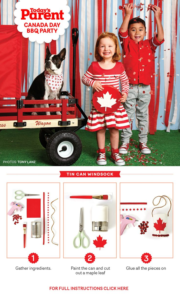 Create your own Canada Day windsock.