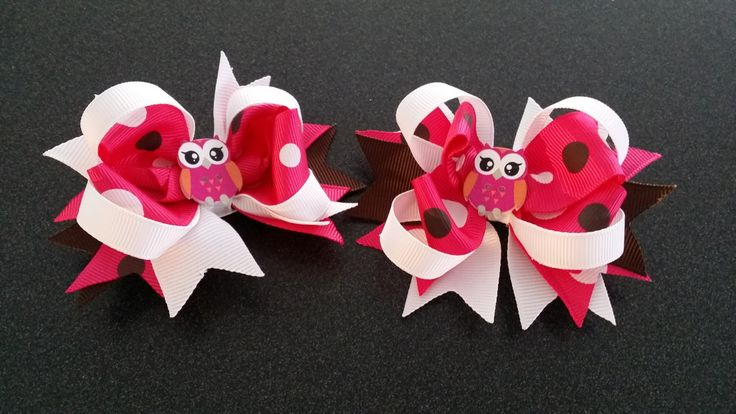 girls boutique bows hair clip set by 4yourbeautifulangel on Etsy