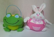polyester frog and rabbit wholesale easter basket