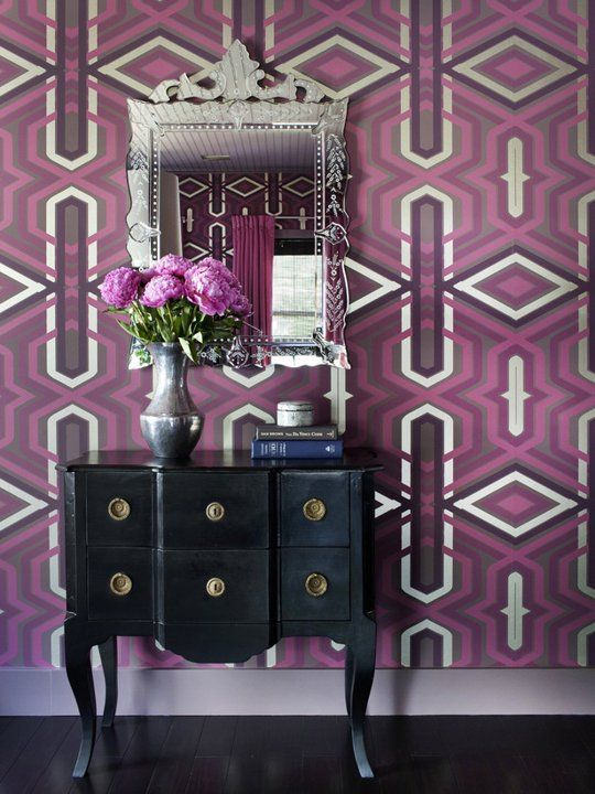 Radiant Orchid Interiors Inspired by Pantone's 2014 Color of the Year via Apartment Therapy. #laylagrayce #pantone #radiantorchid