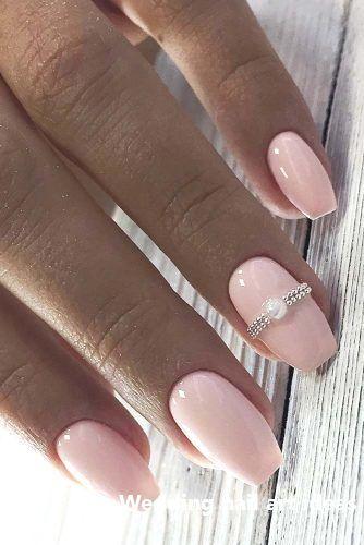 35 idées simples pour la conception des ongles de mariage #nailideas   – nailart