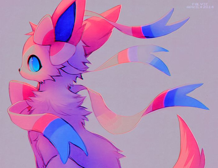 Sylveon art <-- It's beautiful, I love the colors!