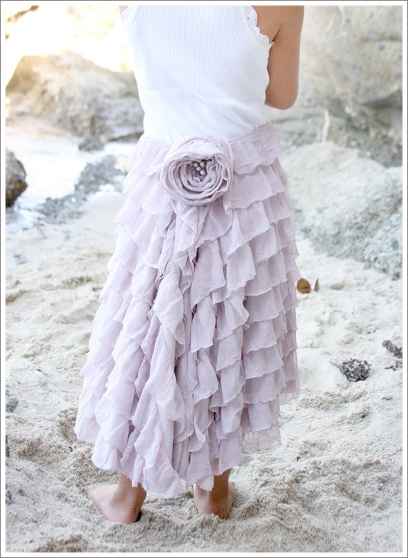 The most wonderful thing about this project, is that this is basically fancy t-shirt fabric! A jersey knit base, with semi-sheer stretch tulle ruffles cascading down. The ruflles are not separate pieces sewn on to a background, they are knit right on. It is a marvel!
