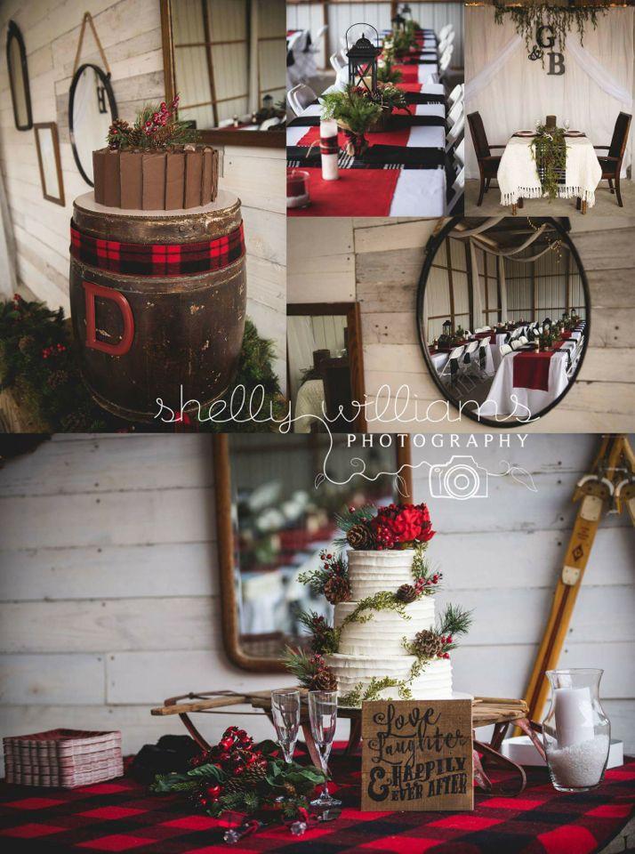 Our rustic winter wedding. ❤️ #shellywilliamsphotography #rustic wedding #plaid…