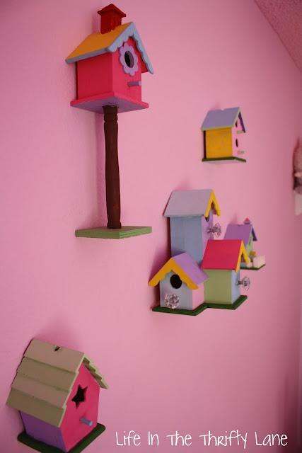 Bird house on the wall - wall decor