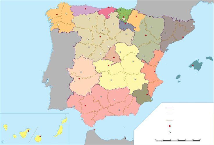 RECURSOS | Mapas mudos España ~ La Eduteca