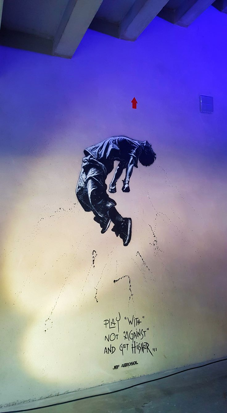Le street artiste français Jef Aérosol à l'expo…