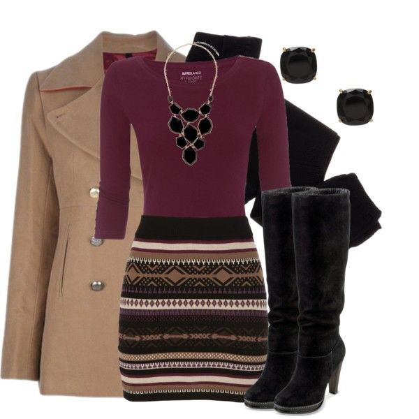 """""""Sweater Skirt"""" by qtpiekelso on Polyvore this is such a good work outfit! love this skirt and it's from Maurices!"""