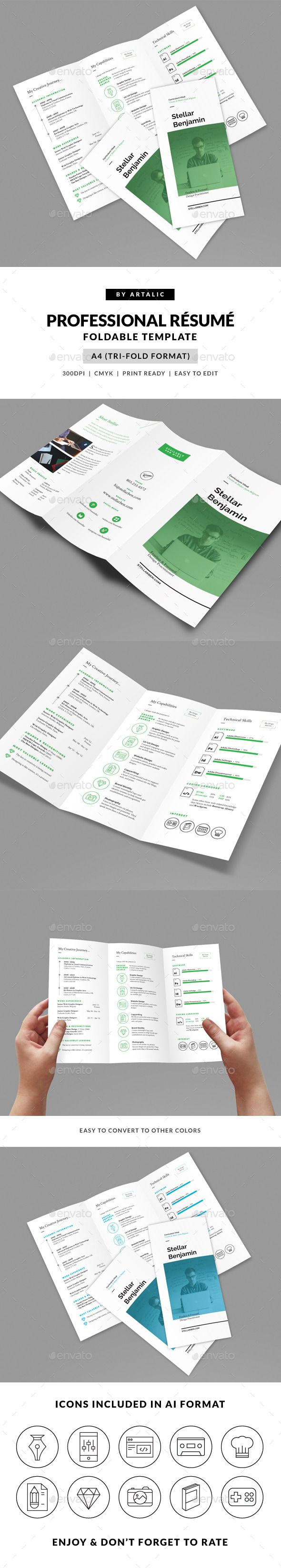 stellar tri fold resume cv resume cv cv template and