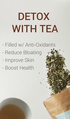 Interested in an all-natural, caffeine free detox? Detoxing helps your body get rid of toxins so that you'll not only feel great, but look great as well. A short natural detox process is simple: Step 1: Eat healthy non-processed foods. Step 2: Drink detox tea for a few weeks. Get rid of bloating and look great with an all-natural tea cleanse that will kick-start a new you.